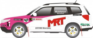 MRT Performance and Subaru will race in the SUV class in the 2012 Australian Rally Championship (c) MRT Performance