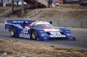 Gary teamed up with brother, Geoff and Derek Daly to win at Sebring with Nissan in 1991 (car pictured ar Laguna Seca) (c) Marshall Pruett
