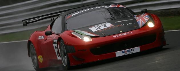 Matt Griffin in the 2012 MTech Ferrari 458 GT3 in the British GT Championship, (c) British GT