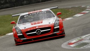 Bret Curtis in the Black Falcon Mercedes SLS GT3 in the Blacpain Endurance Series (PHOTO: Blancpain Endurance Series)