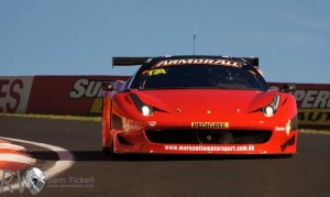 Allan Simonsen set the lap record at Mt Panorama in the Maranello Motorsports Ferrari 458