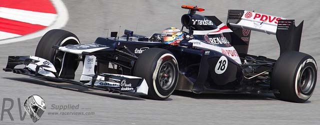 Pastor Maldonado (Williams) during the qualify session at Sepang (Courtesy of Morio)