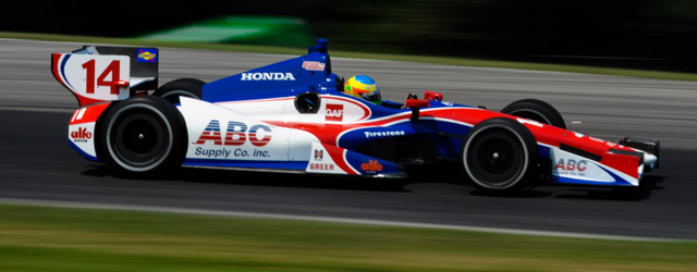 Mike Conway in the ABC Supply Dallara Honda at Mid Ohio. Conway sits in 19th in points for AJ Foyt Racing after Mid Ohio