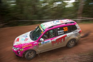 Brett Middleton and Andrew Benefield in the MRT Performance Subaru Forester took out the inaugural ECB SUV Challenge
