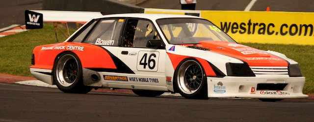 Mark Bowen raced his VK Commodore Sports Sedan to top 10 results at the Sports Sedan race at Bathurst in February