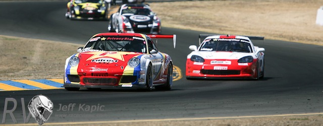 The SCCA World Challege take on the esses at Sonoma