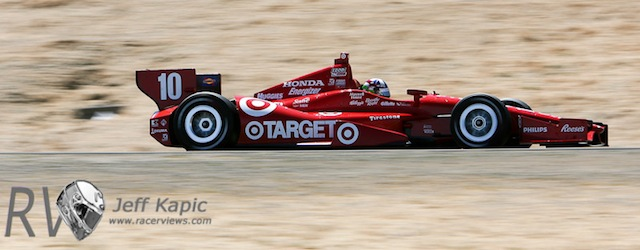 Dario Franchitti a the GoPro Indy Car race at Sonoma