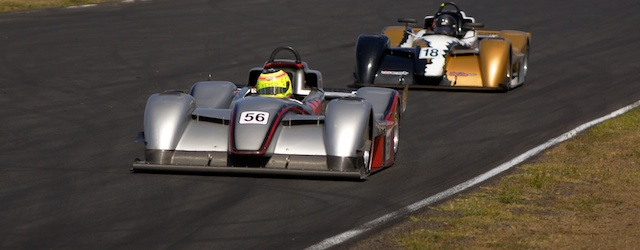James Winslow at the wheel of his West in the Sports Racer Series at Queensland Raceway