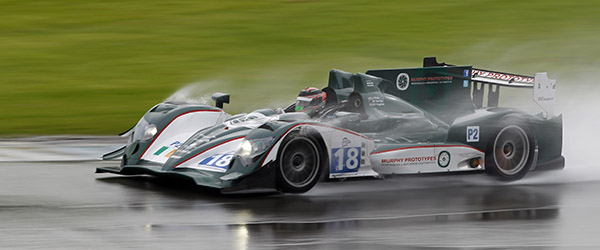 Brendon Hartley races the Murphy Oreca at a soggy Donington PHOTO : FREDERIC LE FLOC'H / DPPI