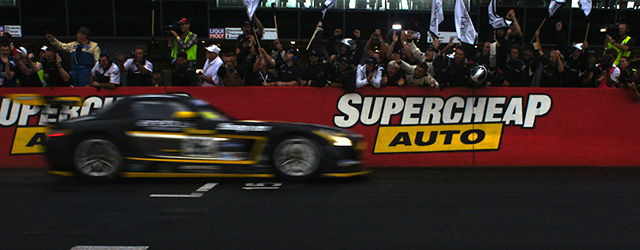 The Erebus squad celebrate their win at the Bathurst 12 Hours