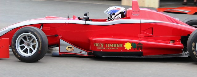 Arrie Maree in the Gilmour Dallara F304 at the team's test session held recently at Queensland Raceway