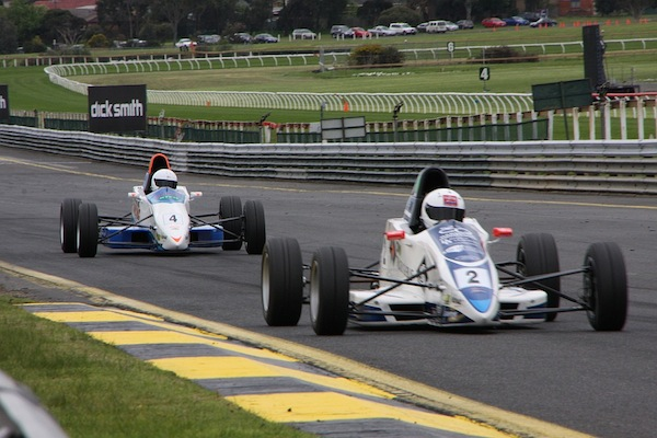 Venter (#4) competing at Sandown in the 2012 Formula Ford Championship (photo: Formula Ford Australia)