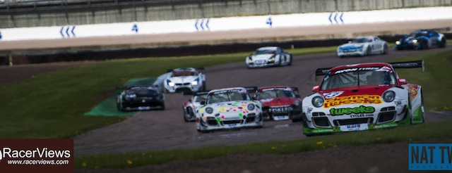The sun shone on Rockingham for the second round of the British GT Championship (Photo: Nat Twiss)