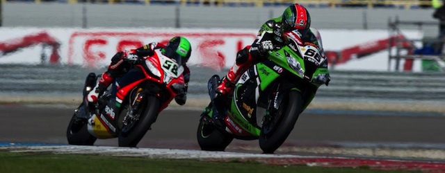 Sykes racing for victory, Laverty in pursuit