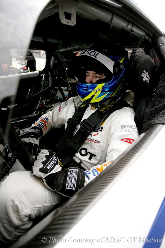 Andreas Wirth sits in the cockpit before another difficult race (Photo: ADAC GT Masters)