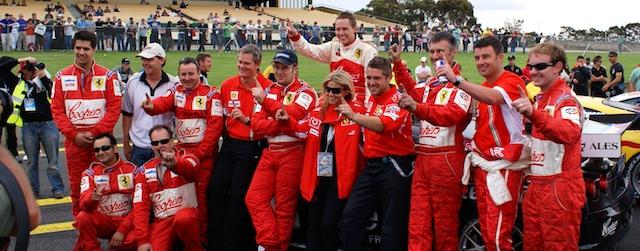 Simonsen celebrates his Australian GT Championship with the Maranello Motorsport team