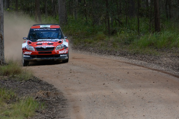 Gaurav Gill had an unlucky Rally Queensland, with damaged suspension ending his run (Photo: Sam Tickell)