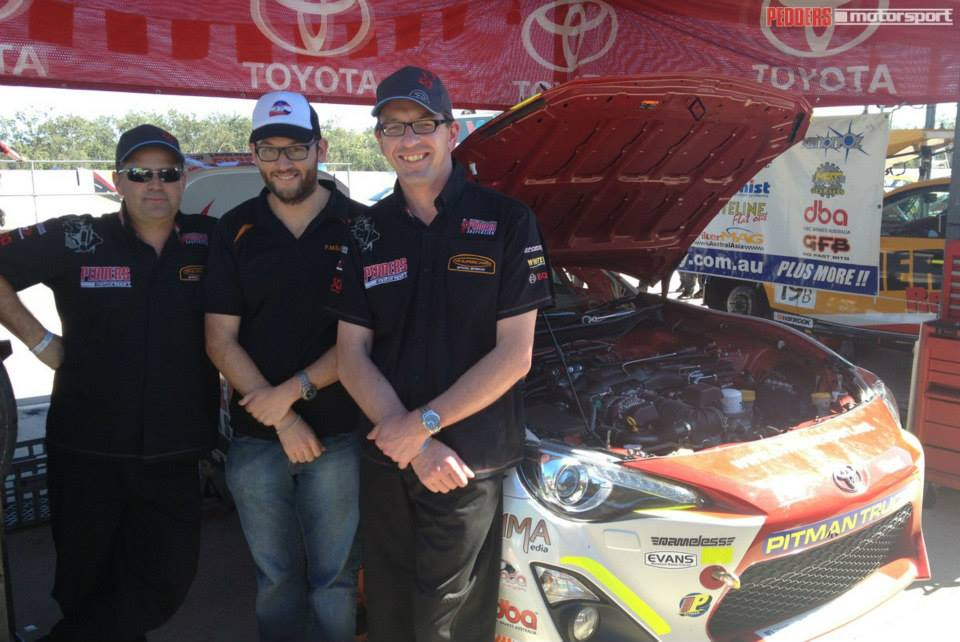 Andrew Turpie, Sam Tickell and Grant Phillips at Queensland Raceway - photo taken directly after the interview!
