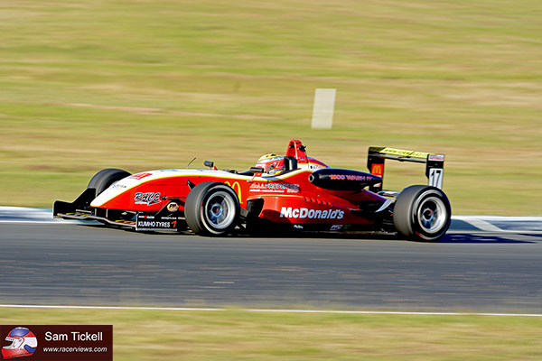 Ben Gersekowski scored a career best second place in the McDonalds supported Dallara at Queensland Raceway over the weekend