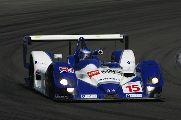 Tom Chilton drives the Zytek to victory at the 2005 Laguna Seca round of the ALMS, beating out the all dominating Audi machines (Photo courtesy of Zytek)