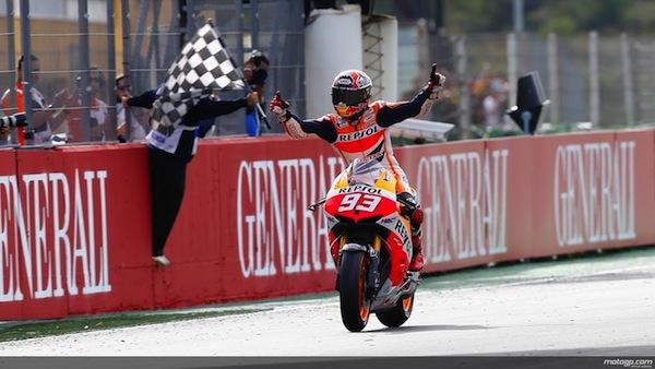 Marc Marquez celebrates his first MotoGP title (photo: MotoGP)