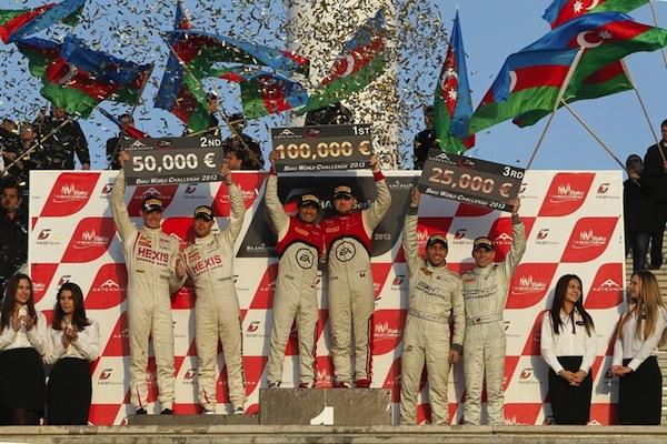 Your happy Baku GT podium (Photo: FIA GT)