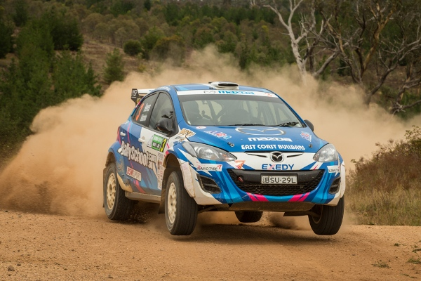 Reeves was attacking and with good reason - it was a tight run thing but he took the win at the National Capital Rally