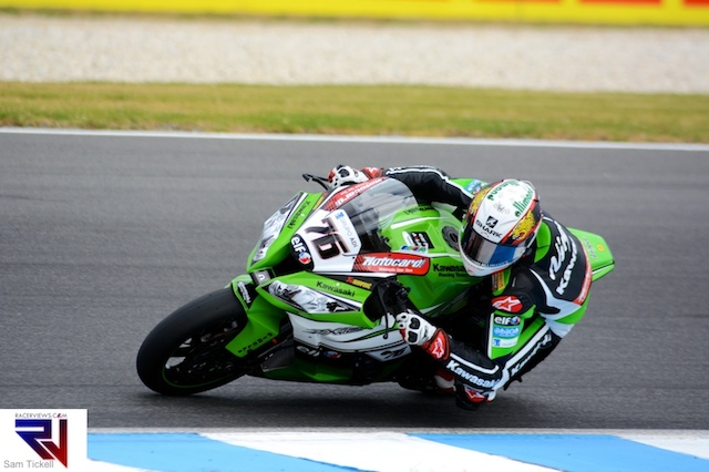 Loris Baz fought to a podium in the WSBK opener at Phillip Island