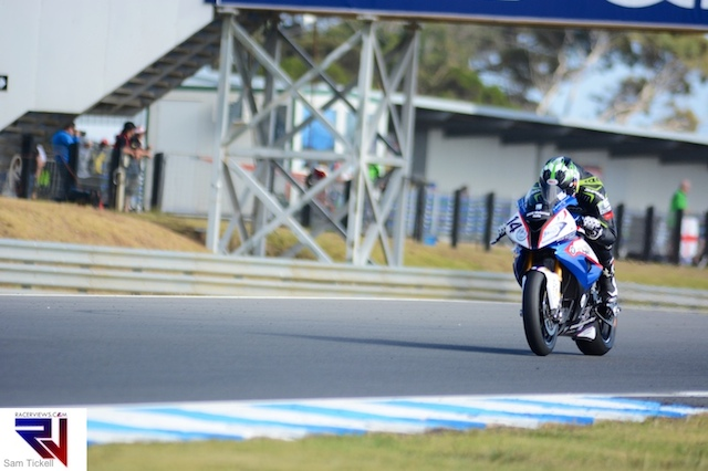 Glenn Allerton took two point scoring finishes and was the highest placed BMW at Phillip Island WSBK