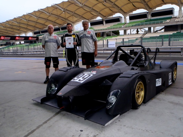 Liam Talbot with his Wolf that he will race in the upcoming Asian Le Mans Series (photo: Liam Talbot Racing)