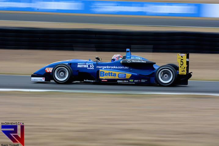 Chris Anthony took a podium in the Australian Formula 3 at Queensland Raceway