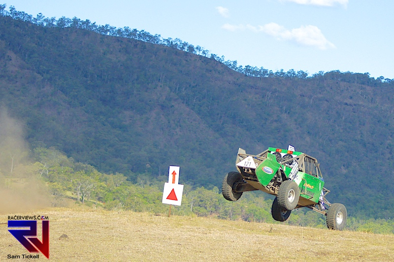 Big jumps and big dust was the order of the day at the Lockyer 300