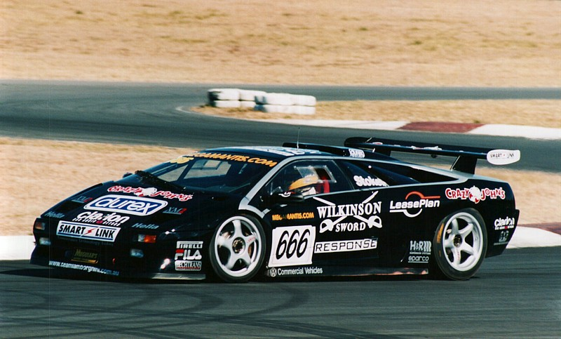 Paul Stokell in his legendary Lamborghini that he campaigned with so much success in the Nations Cup (By Falcadore (Own work) [CC-BY-SA-3.0 (http://creativecommons.org/licenses/by-sa/3.0) or GFDL (http://www.gnu.org/copyleft/fdl.html)], via Wikimedia Commons)
