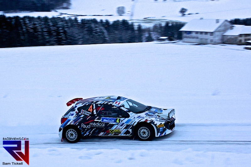 Robert Consani sits in second place in the Janner Rallye