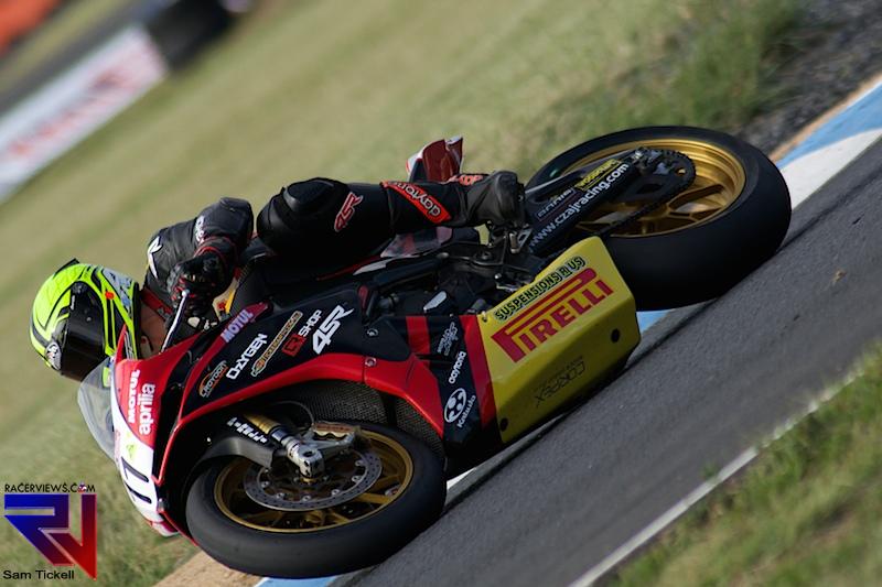 Phil Czaj is competing on Pirellis this year in ASBK