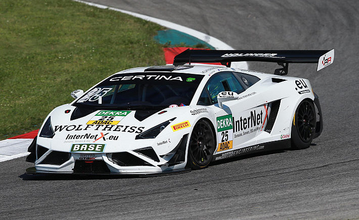 David Russell teamed up with Tomas Enge to take a win at the Red Bull Ring in the ADAC GT Masters