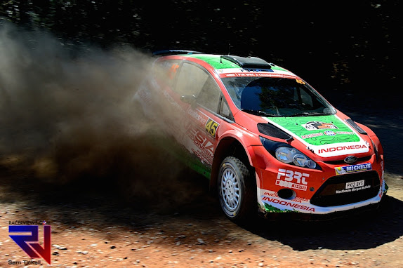 Aksa in his Ford Fiesta RRC at the 2014 WRC Rally Australia