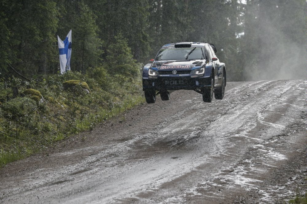 Jari-Matti Latvala (FIN), Miikka Anttila (FIN) Volkswagen Polo R WRC performs at FIA World Rally Championship 2015 Finland in Jyvaskyla on August 1st, 2015 Photographer Credit     Volkswagen Motorsport/Red Bull Content Pool