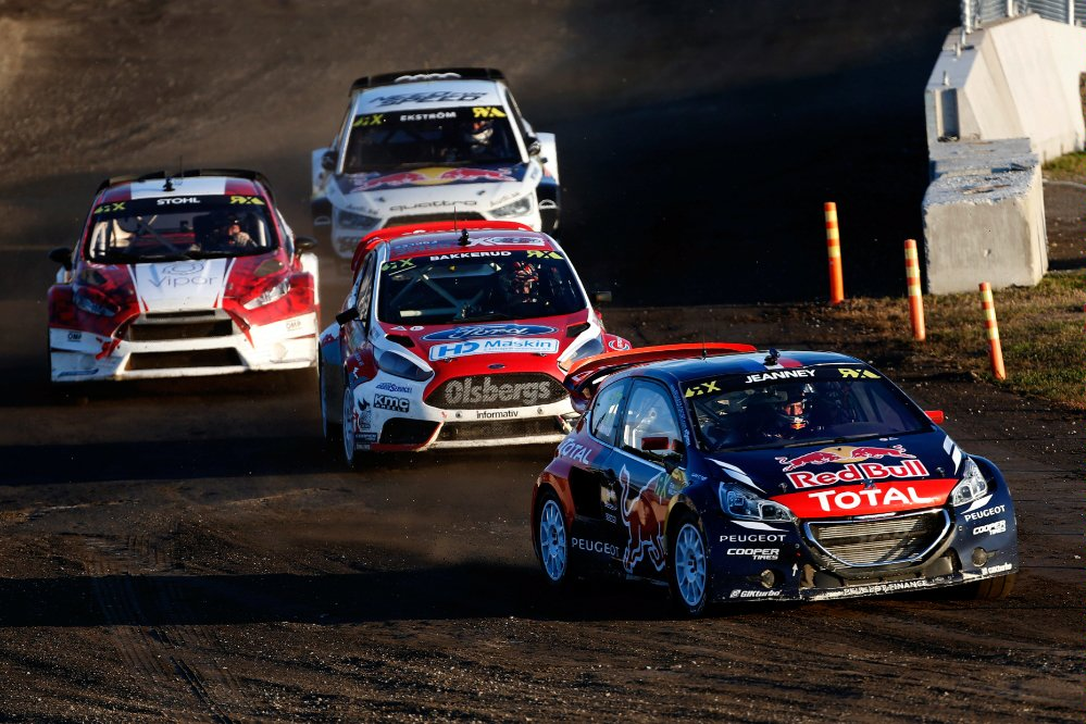 Davy Jeanney performs at the FIA World Rallycross Championship Trois-Rivieres Circuit in Canada on the 09th August 2015 Photographer Credit     @tWorld / Red Bull Content Pool