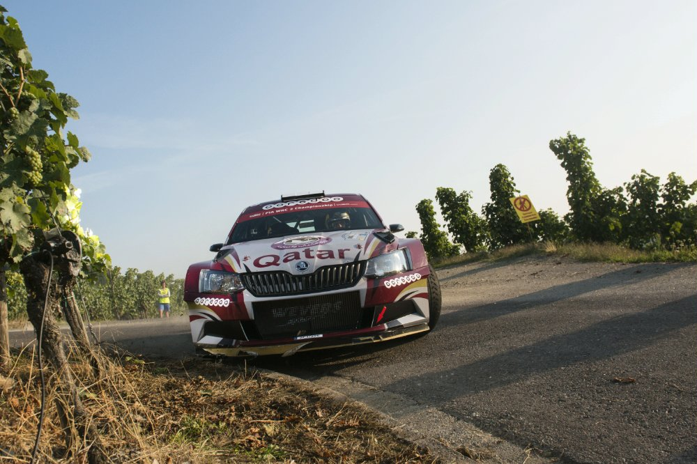Nasser Al-Attiyah performs during the FIA World Rally Championship 2015 in Trier, Germany on August 22, 2015 Photographer Credit     Jaanus Ree/Red Bull Content Pool