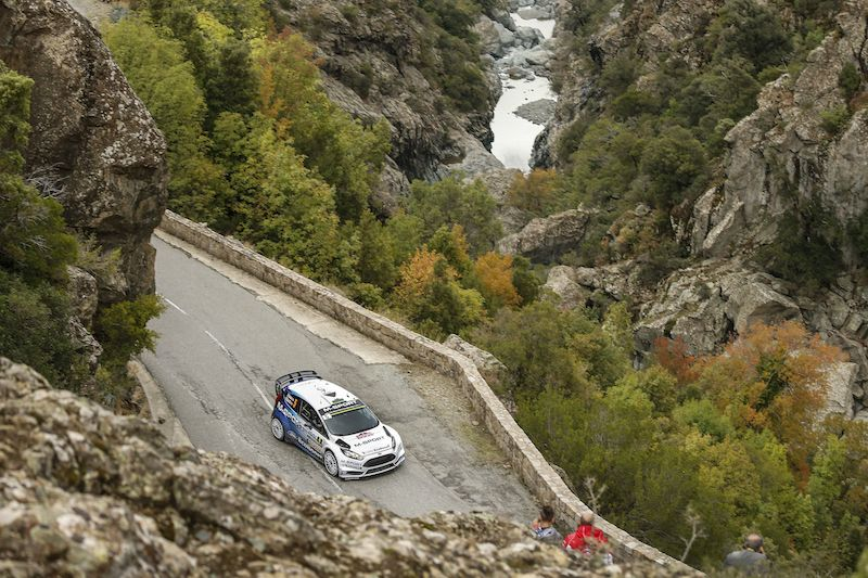 Elfyn Evans has surprised in the Tour de Corse after taking the opening day lead (photo: M-Sport)