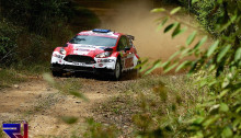 Scott Pedder in action in Australia - the final WRC2 round of his season didn't go to plan