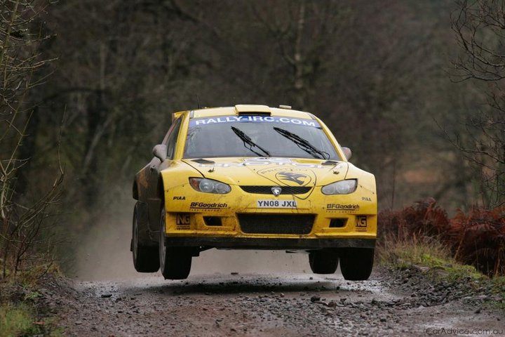 Alister McRae rallied with the factory Proton squad taking an APRC title. He also took it to selected WRC and IRC rounds - here rallying in the Intercontinental Rally Challenge at home in Scotland.