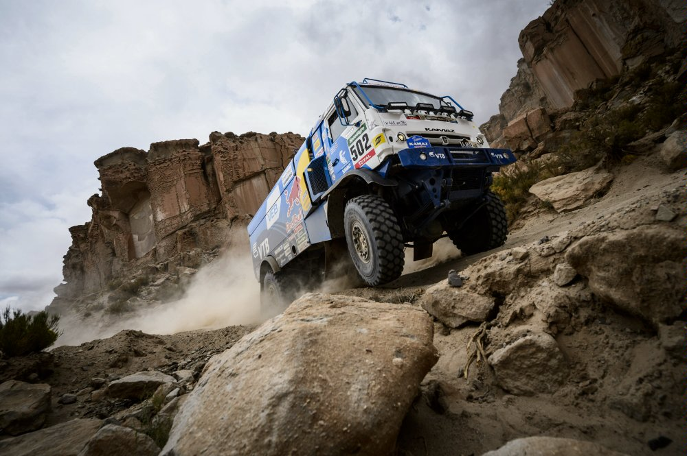 Eduard Nikolaev (RUS) of Team KAMAZ Master races during stage 04 of Rally Dakar 2016 around Jujuy, Argentina on January 6, 2016 Photographer Credit Marcelo Maragni/Red Bull Content Pool