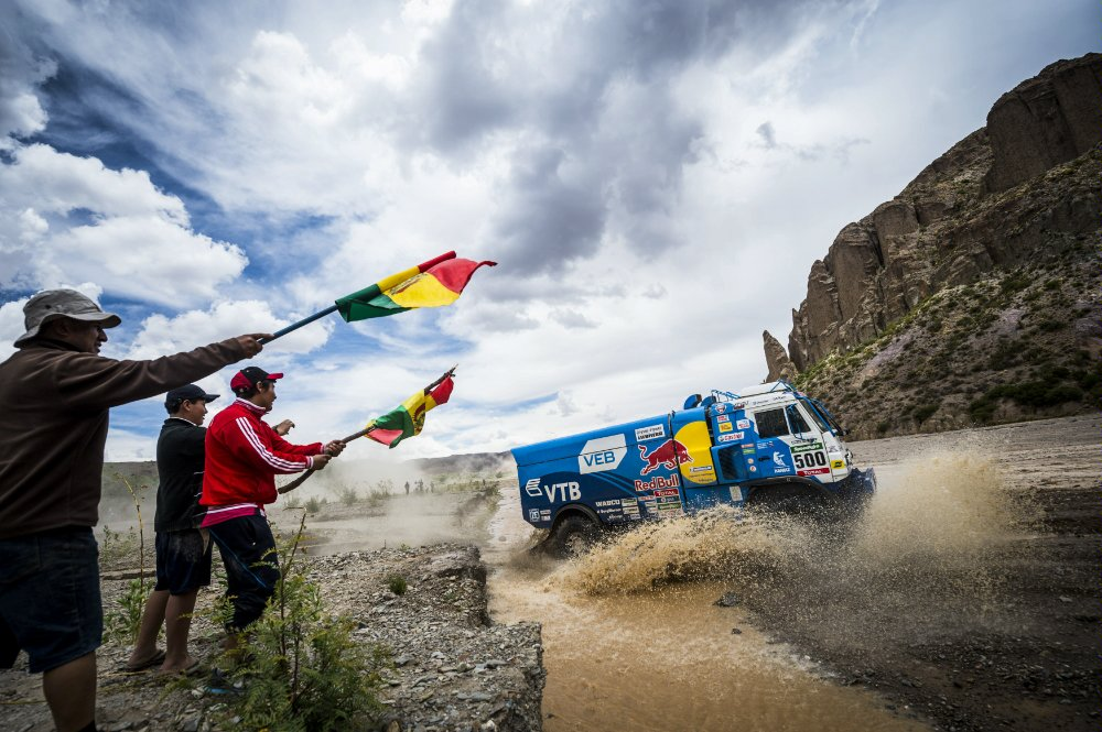 Ayrat Mardeev (RUS) of Team KAMAZ Master races during stage 05 of Rally Dakar 2016 from Jujuy, Argentina to Uyuni, Bolivia on January 7, 2016 Photographer Credit: Marcelo Maragni/Red Bull Content Pool