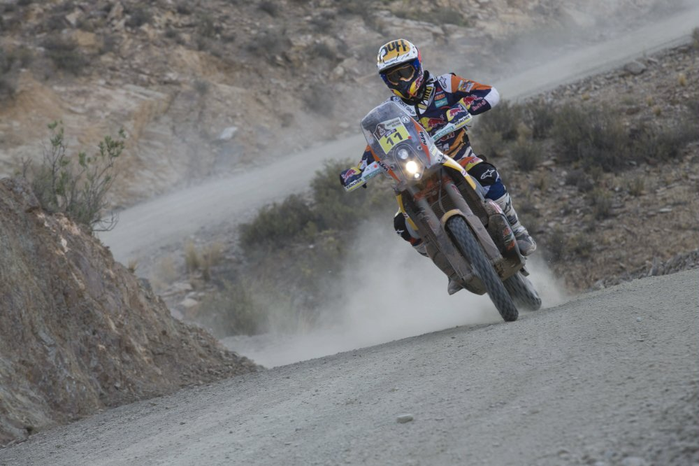 Jordi Viladoms (ESP) from Red Bull KTM Factory Team performs during stage 5 of Rally Dakar 2016 from Jujuy, Argentina to Uyuni, Bolivia on January 7, 2016. Person Jordi Viladoms, Red Bull KTM Factory Team Photographer Credit Flavien Duhamel/Red Bull Content Pool