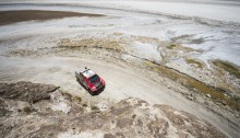 Giniel De Villiers (ZAF) of Toyota Gazoo Racing South Africa races during stage 06 of Rally Dakar 2016 around Uyuni, Bolivia on January 8, 2016 Photographer Credit     Marcelo Maragni/Red Bull Content Pool