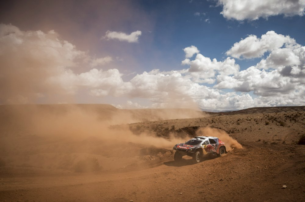 Sebastien Loeb (FRA) of Team Peugeot-Total races during stage 07 of Rally Dakar 2016 from Uyuni, Bolivia to Salta, Argentina on January 9, 2016 Photographer Credit Marcelo Maragni/Red Bull Content Pool