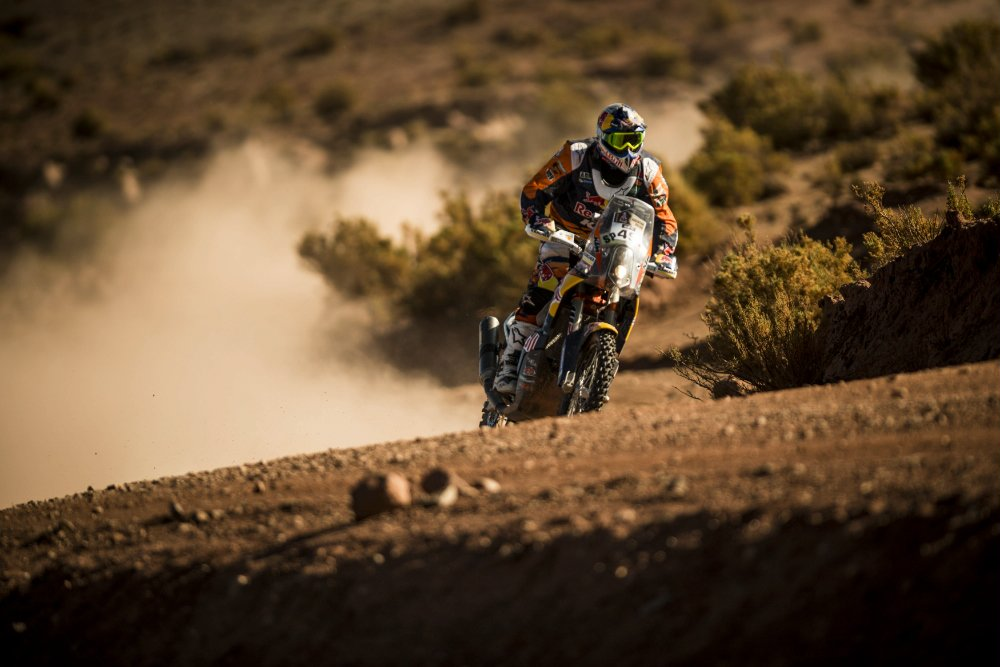 Antoine Meo (FRA) of Red Bull KTM Factory Team races during stage 07 of Rally Dakar 2016 from Uyuni, Bolivia to Salta, Argentina on January 9, 2016 Photographer Credit Marcelo Maragni/Red Bull Content Pool