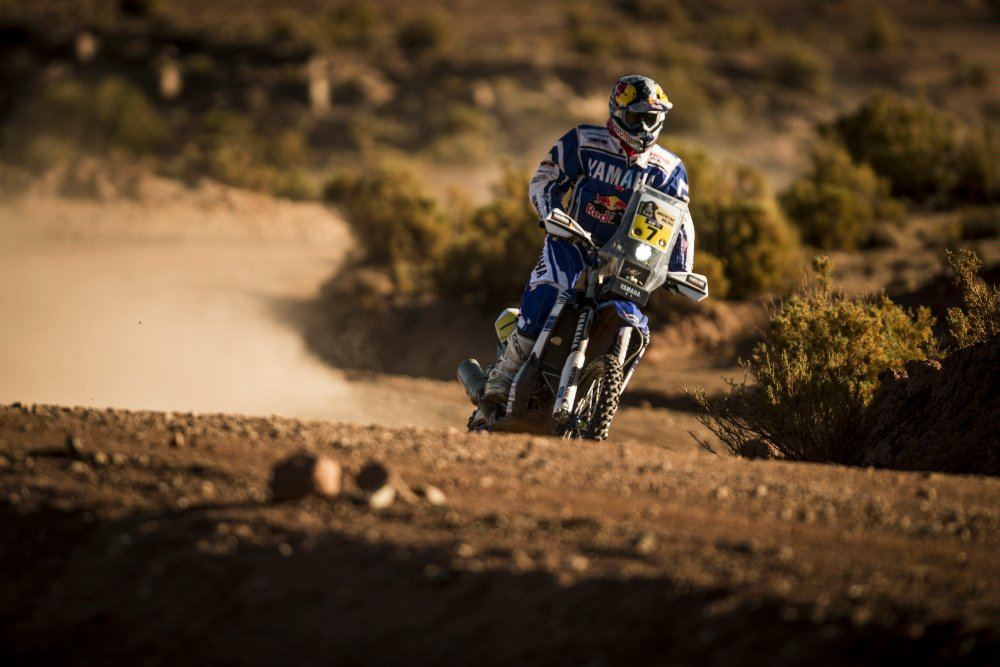 Helder Rodrigues (PRT) of Yamaha Racing Team races during stage 07 of Rally Dakar 2016 from Uyuni, Bolivia to Salta, Argentina on January 9, 2016 Photographer Credit Marcelo Maragni/Red Bull Content Pool